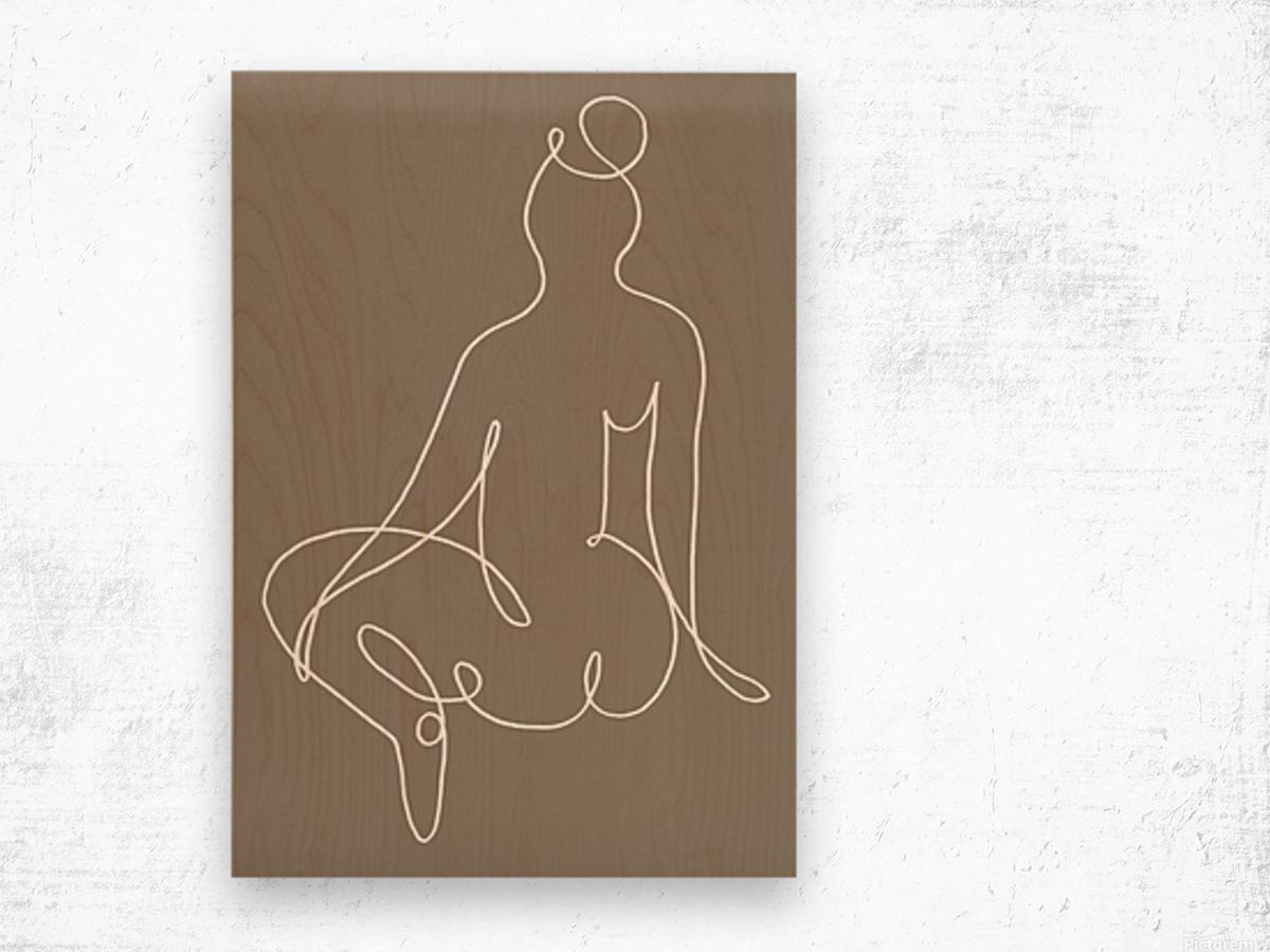 Sitting Down 02 Wood print