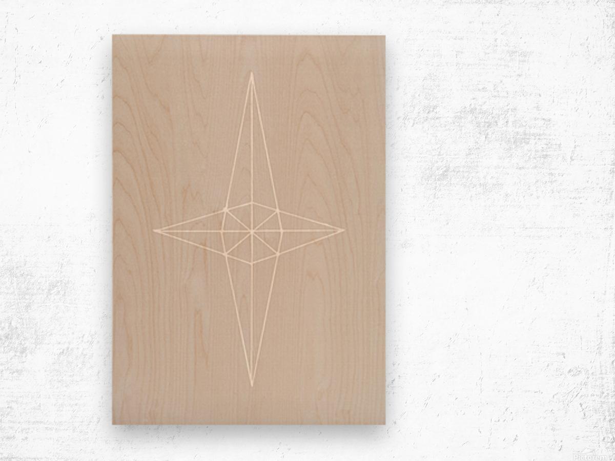 Grid Star Grey Wood print