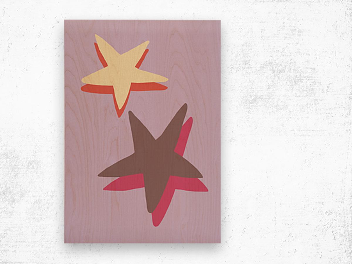 Lilac Star Wood print
