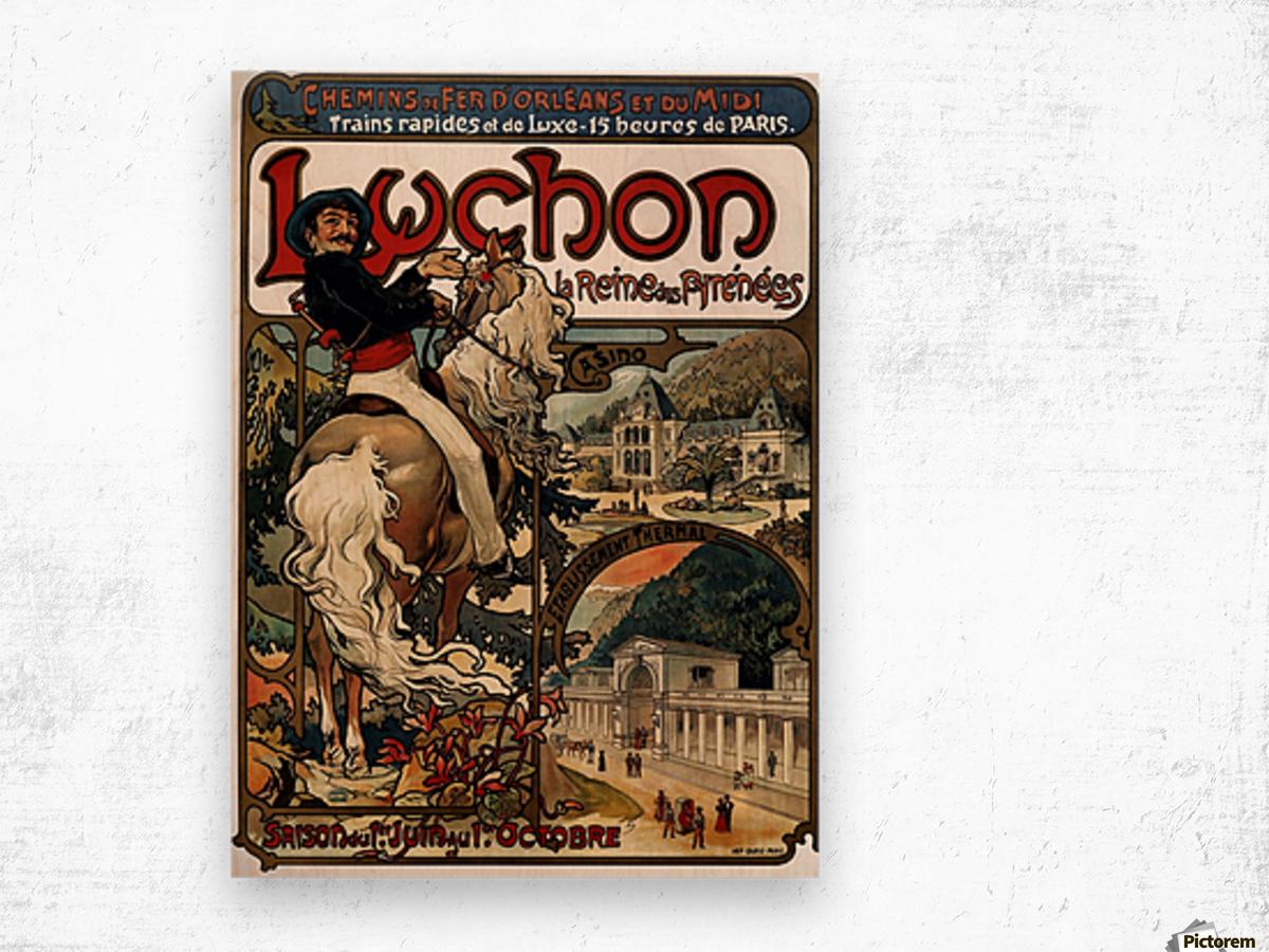 Luchon by Alphonse Mucha Wood print