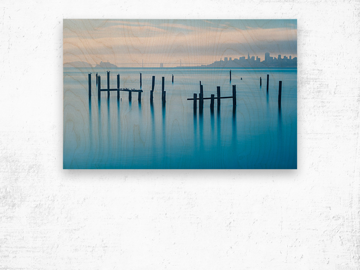The Old Pier of Sausalito Wood print