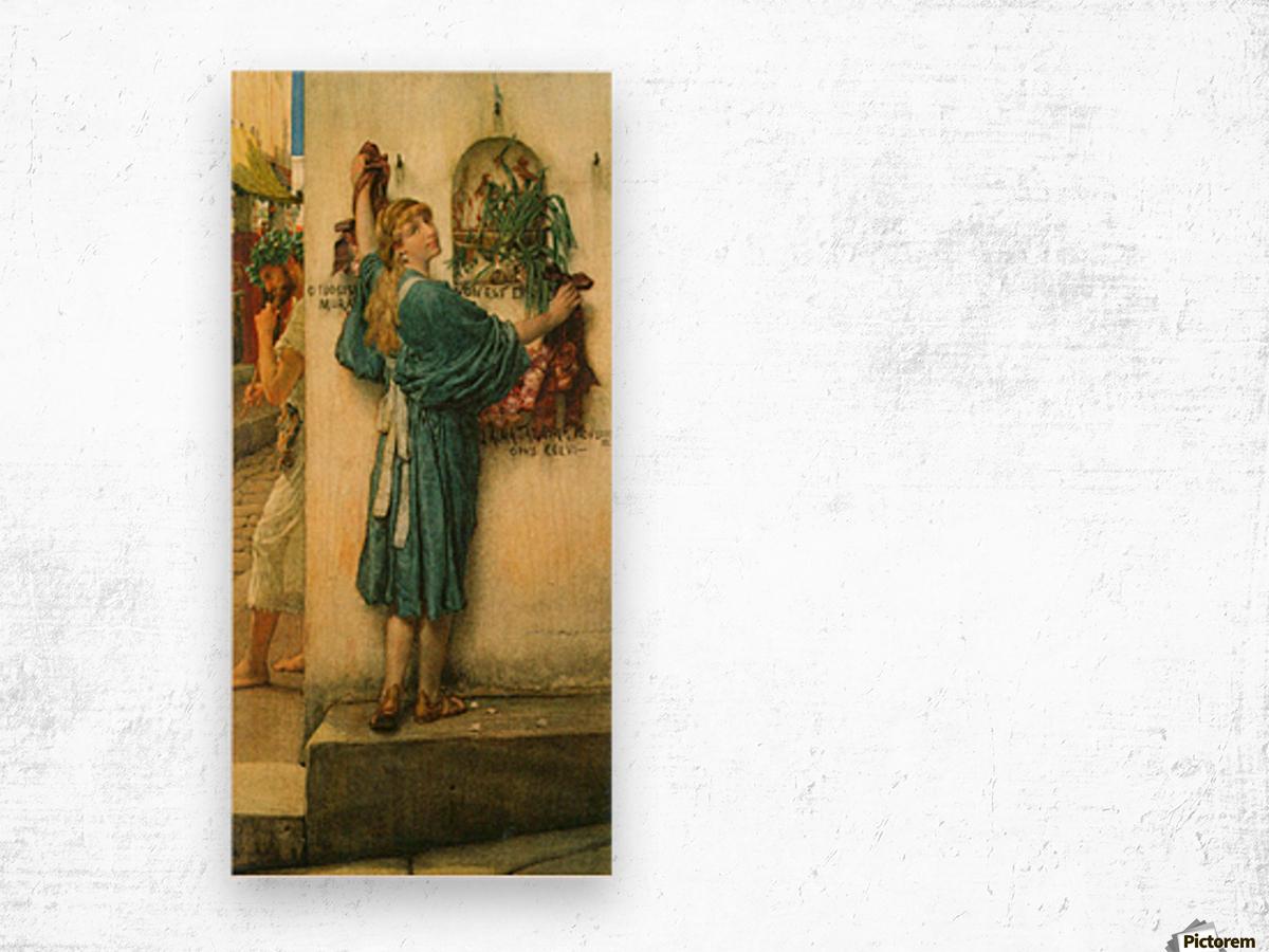 A road altar by Alma-Tadema Wood print