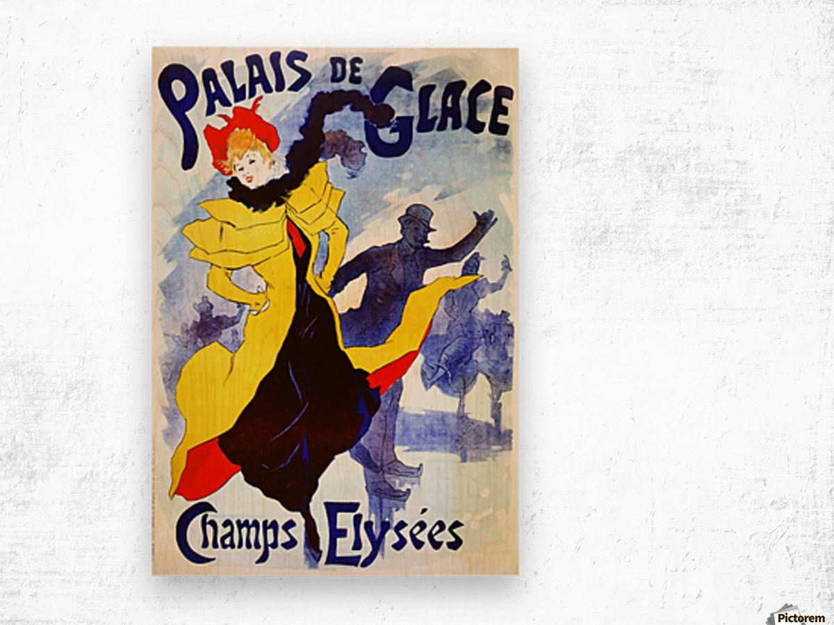 Palais de Glace by Cheret Wood print