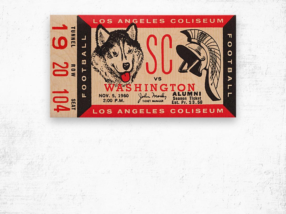 1960 USC Trojans vs. Washington Huskies Wood print