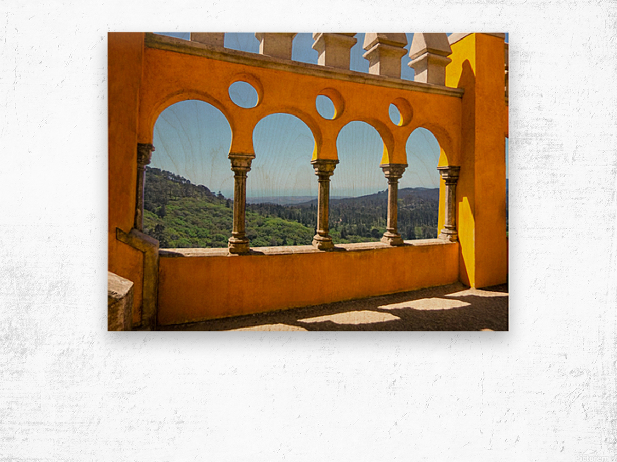 Shadows and Sunlight - Palace of Pena - Sintra Portugal Wood print