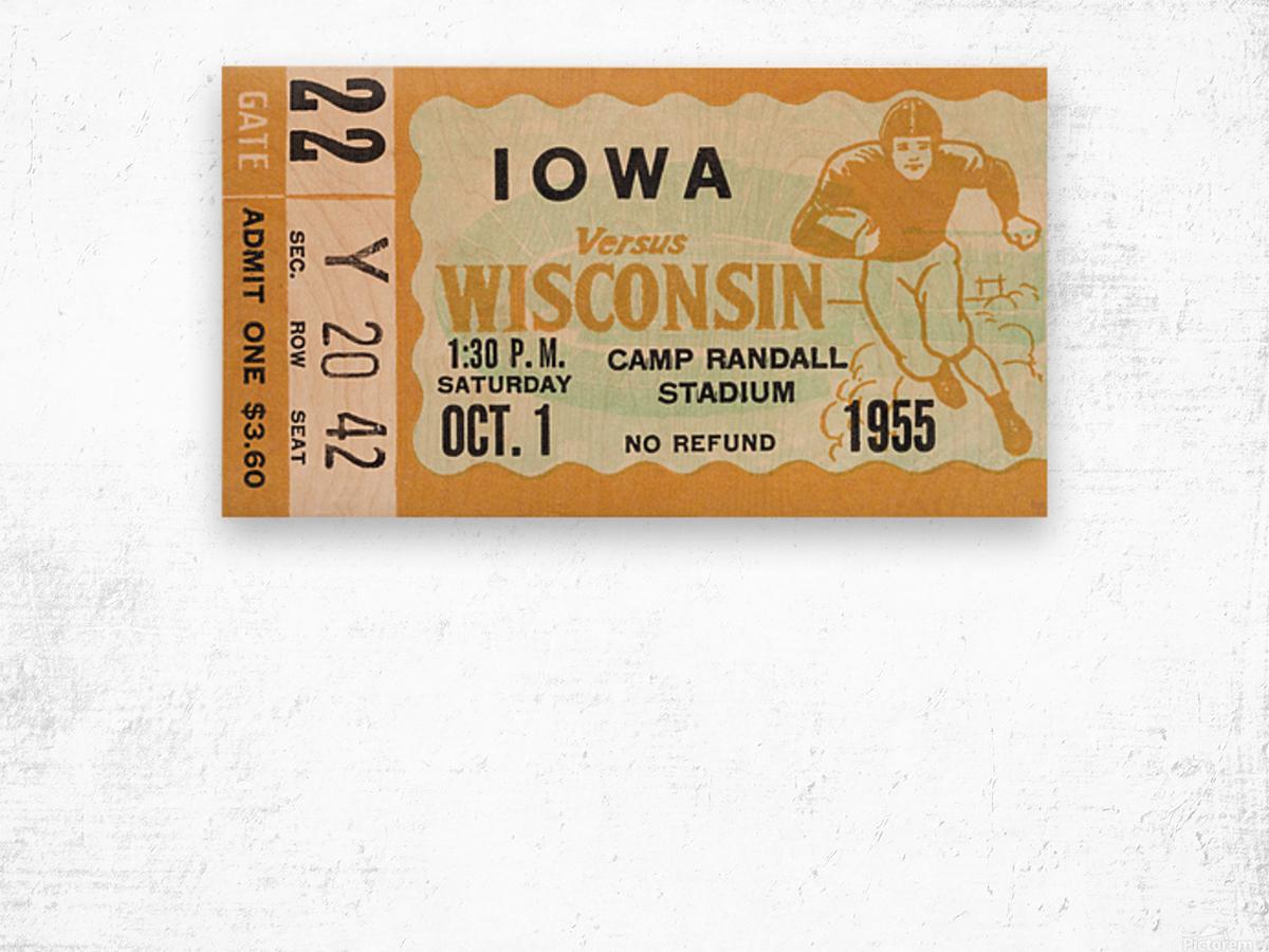 1955 Iowa Hawkeyes vs. Wisconsin Badgers Wood print