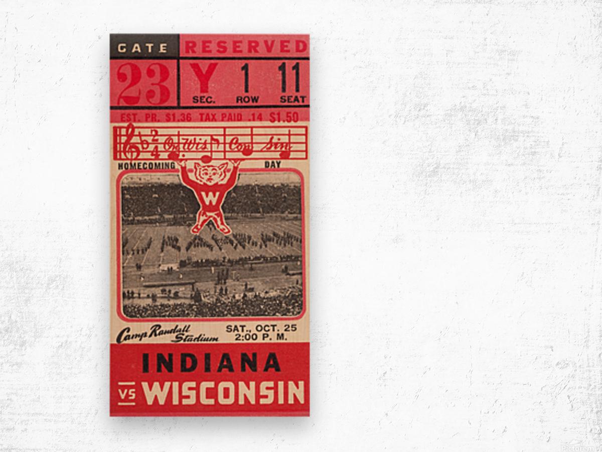 1941 Wisconsin vs. Indiana Wood print