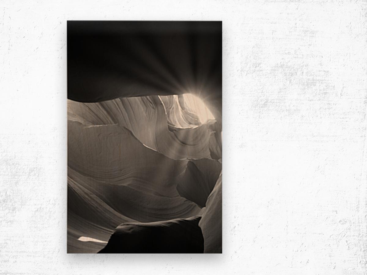 Light Cavern Impression sur bois