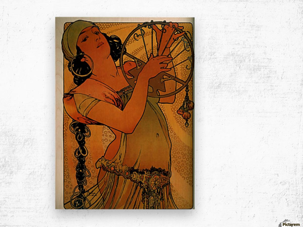 Solome by Alphonse Mucha Wood print