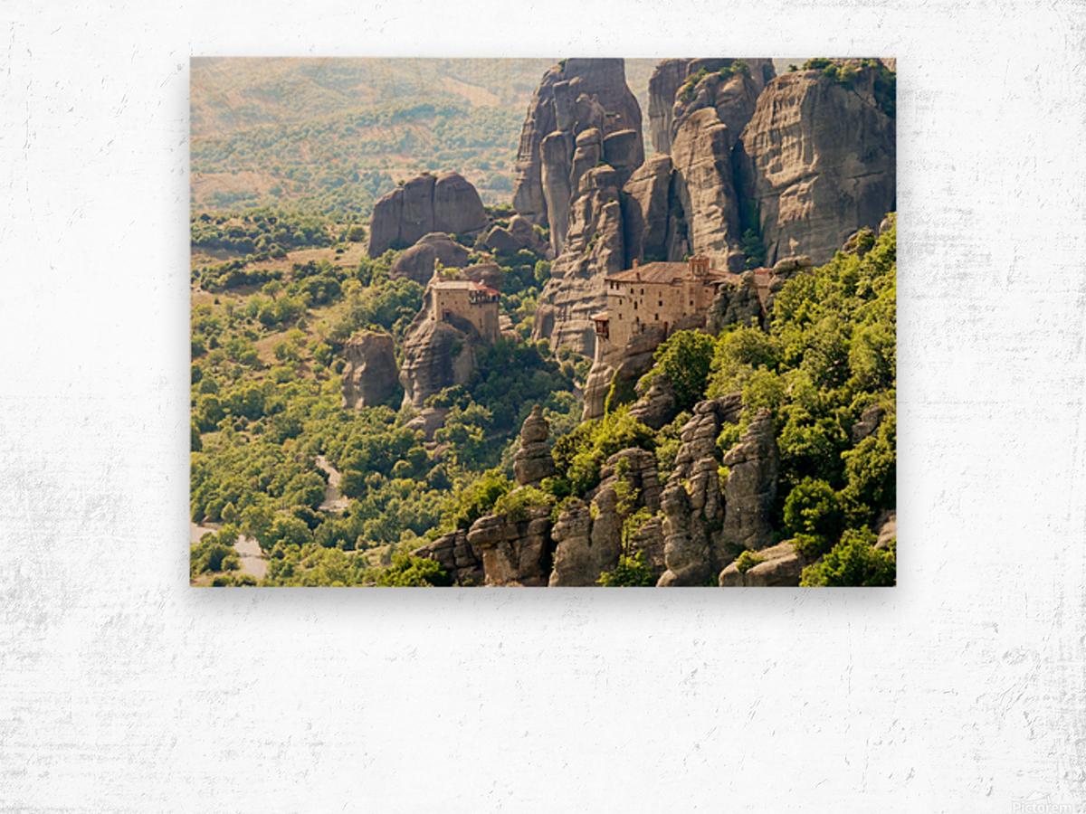 Monastery in Grece Wood print