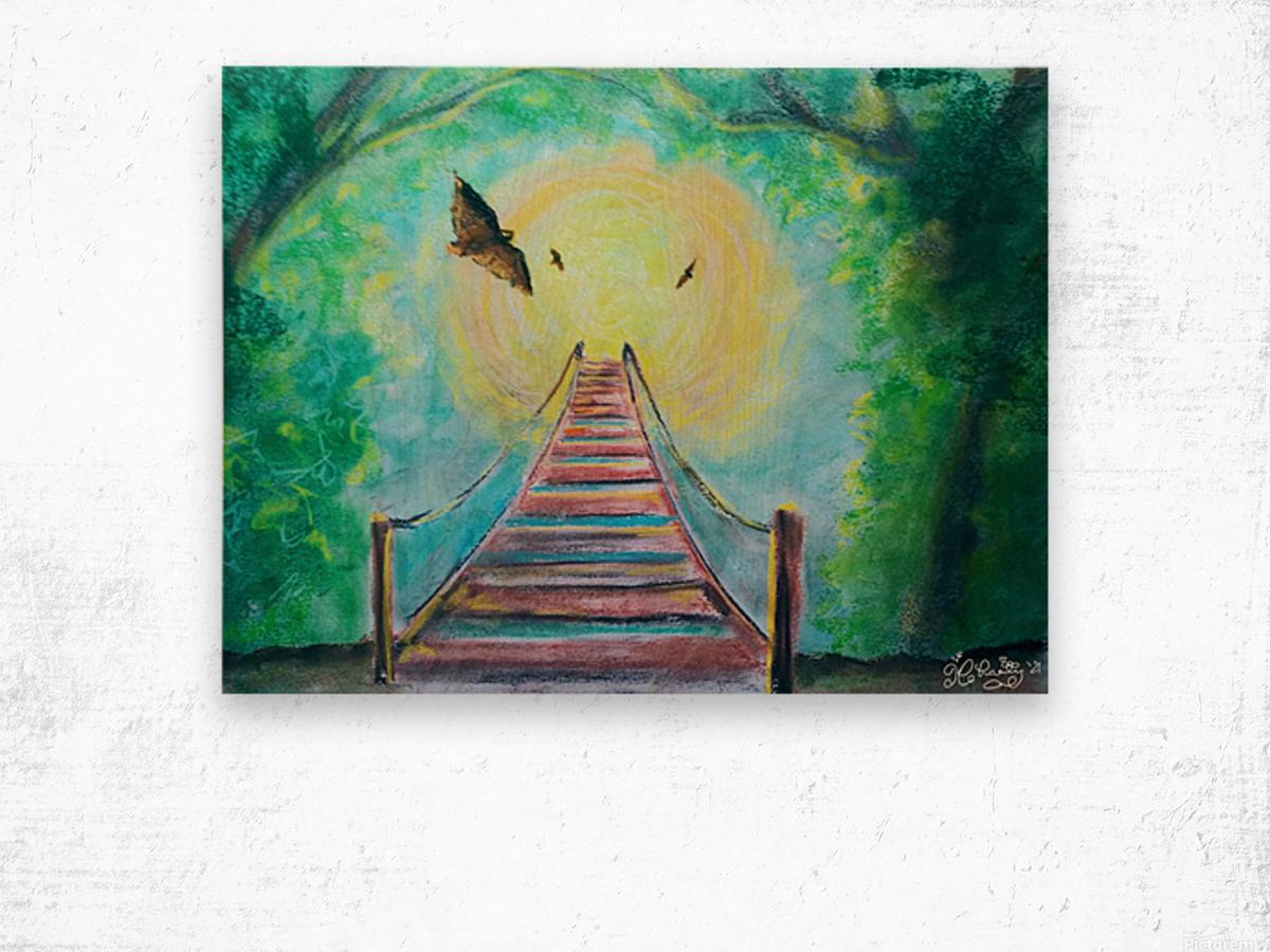 The Bridge To Next Tuesday Wood print