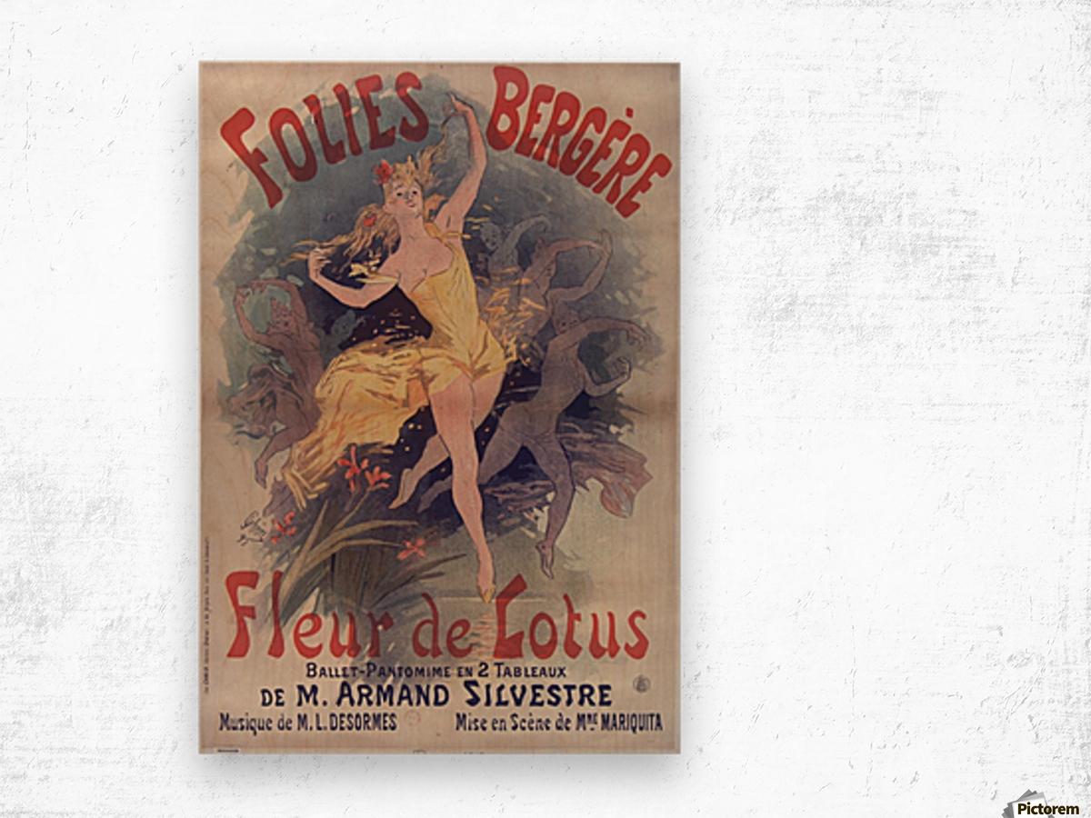 Folies Bergere Fleur de Lotus Poster Wood print