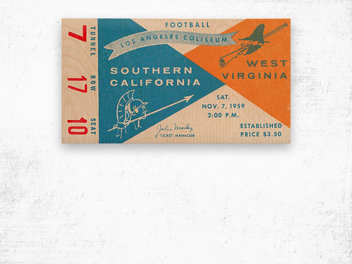 1959 USC vs. West Virginia Wood print