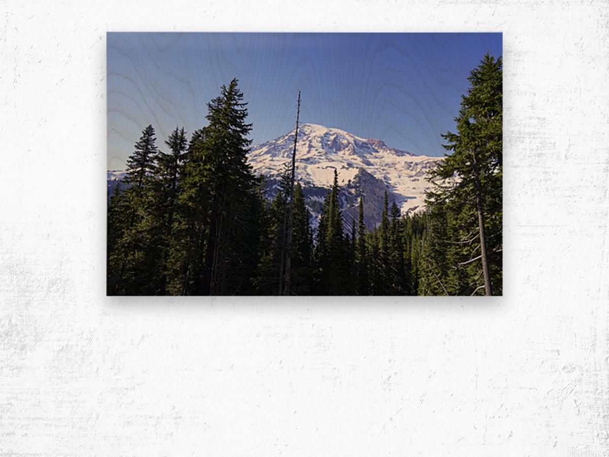 Mount Rainier Pacific Northwest Washington State Wood print