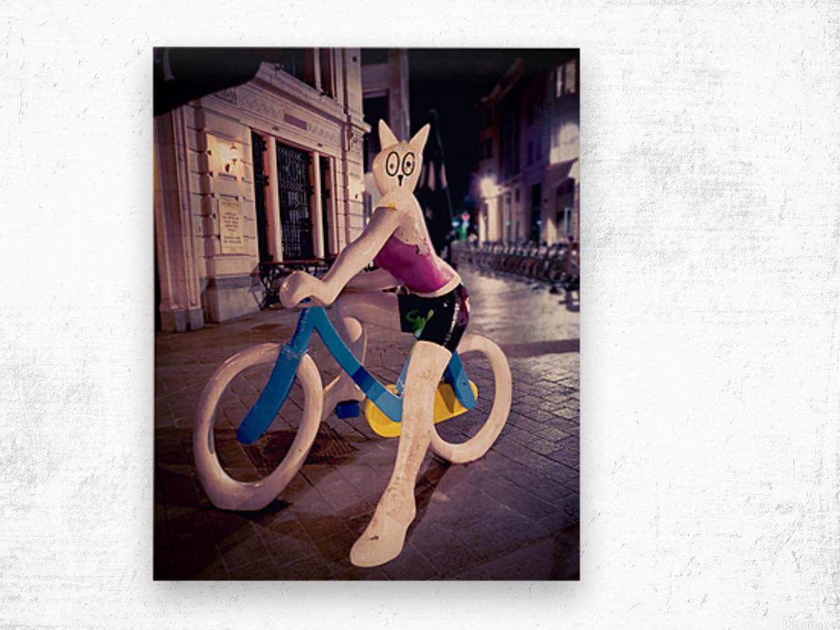 One Night In Brussels Wood print