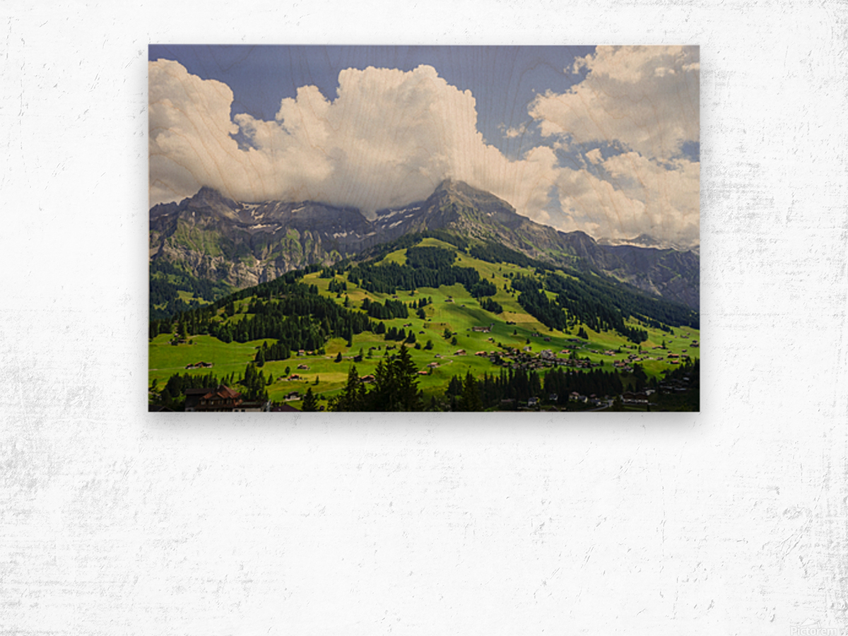 Beautiful Day in the Swiss Alps 2 of 2 Wood print