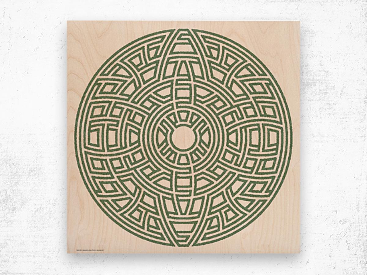 Maze 4803 Wood print