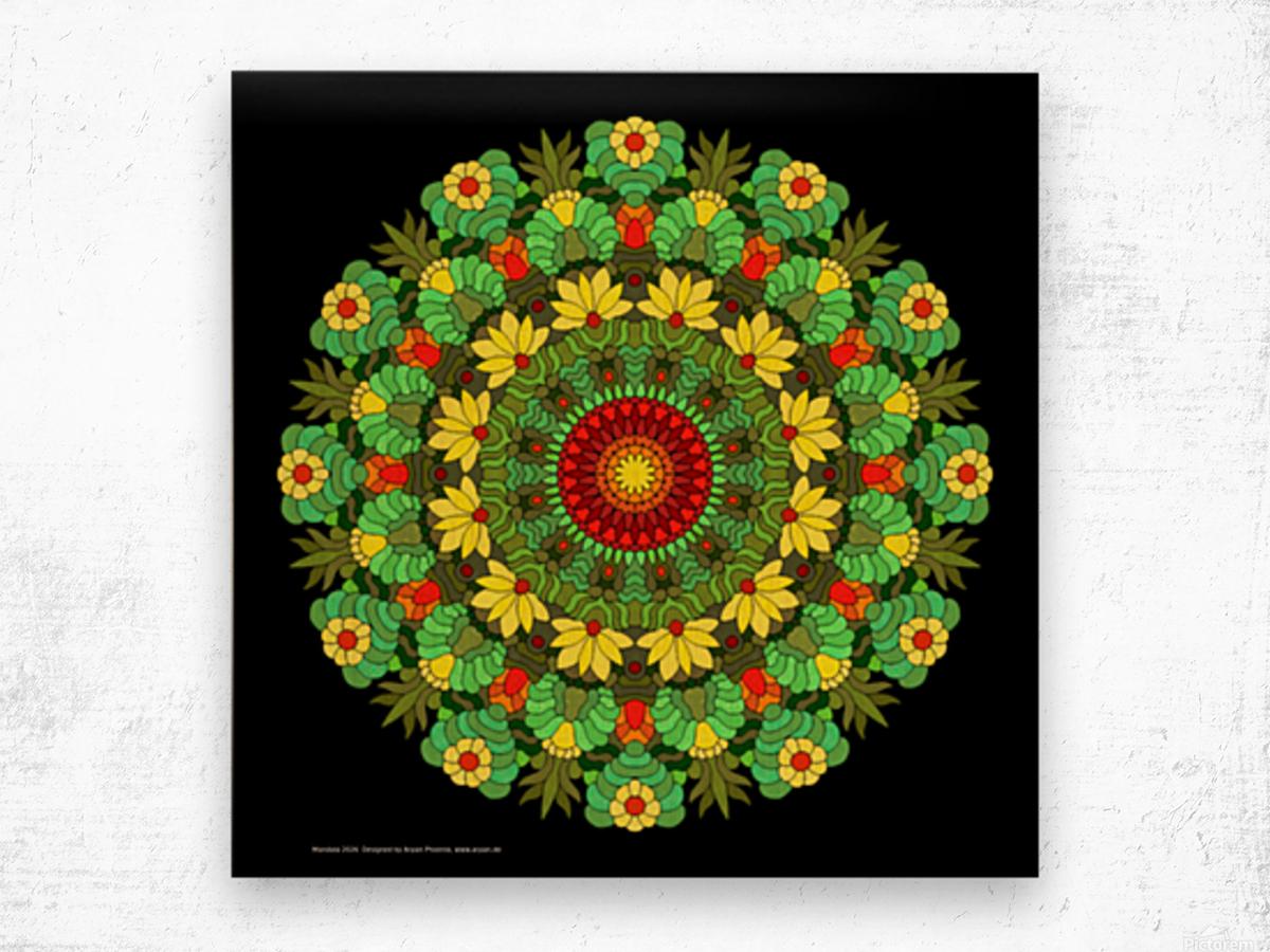 Mandala 2026 Wood print