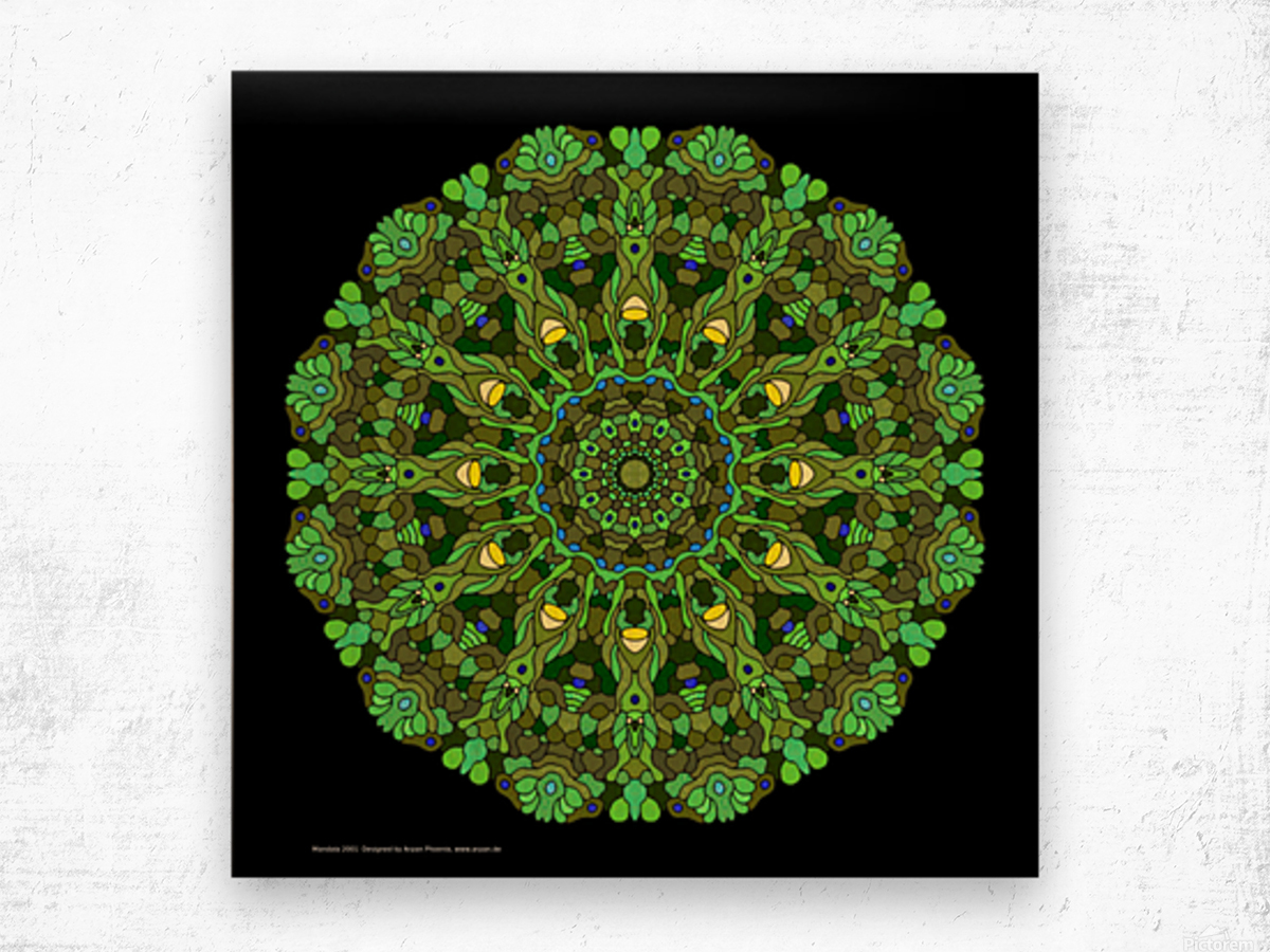 Mandala 2001 Wood print