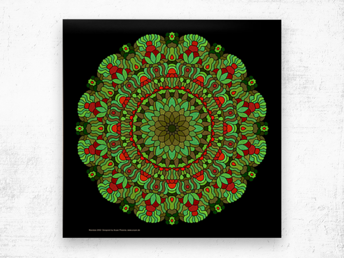 Mandala 2002 Wood print