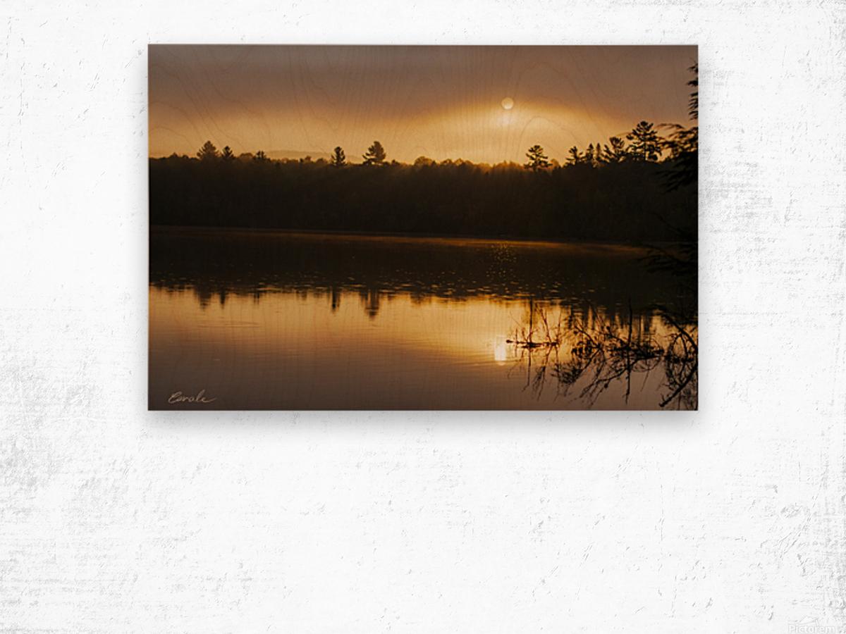 Lever de soleil sur le lac Earhart  2 - Sunrise on Earhart Lake 2 Wood print