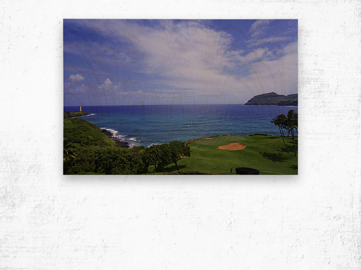 Ninini Point Lighthouse   Kauai Hawaii Wood print