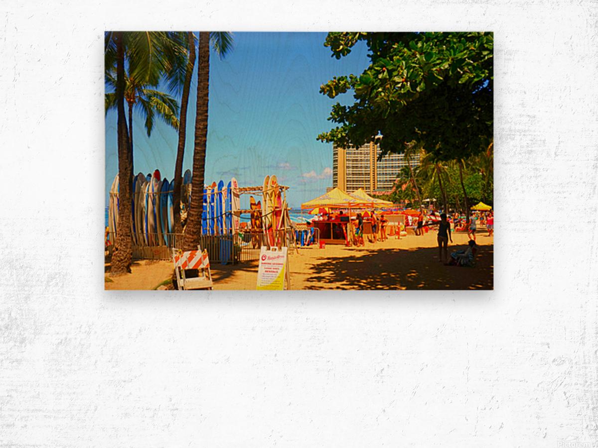 Waikiki Snapshot in Time 2 of 4 Wood print