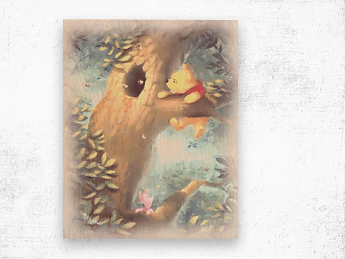 Curious Bear  Wood print
