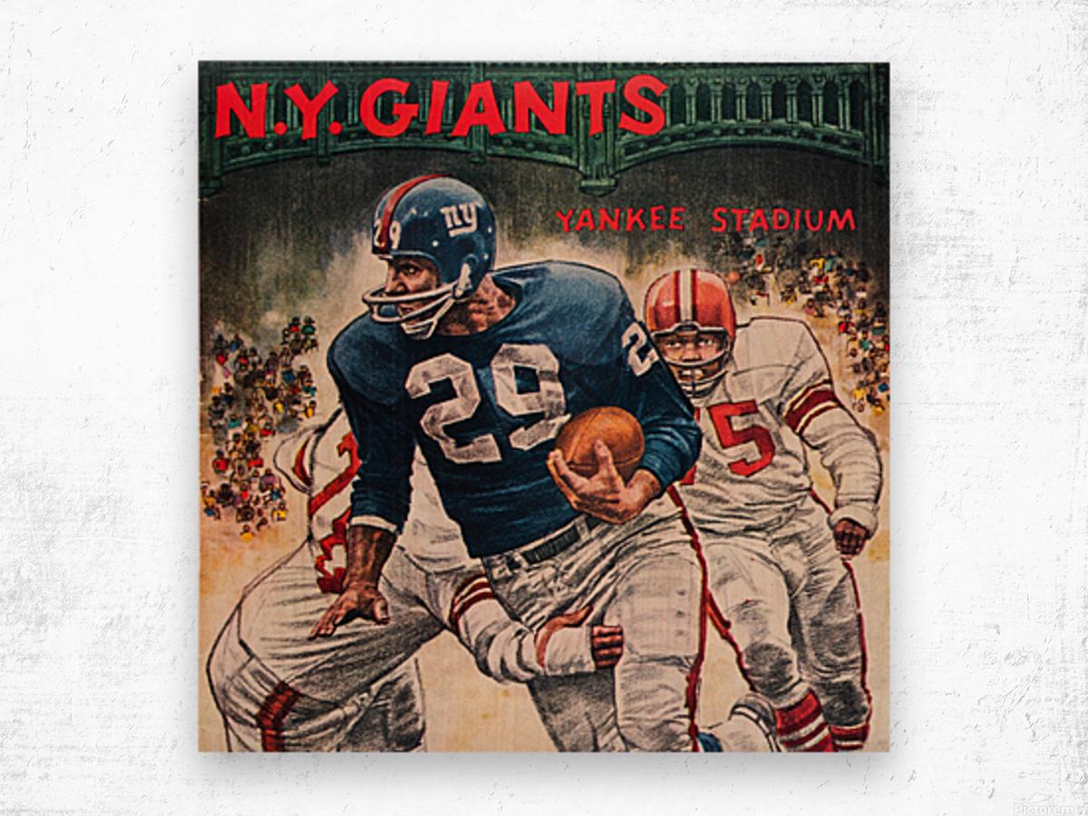 1962 Robert Riger New York Giants Art Wood print