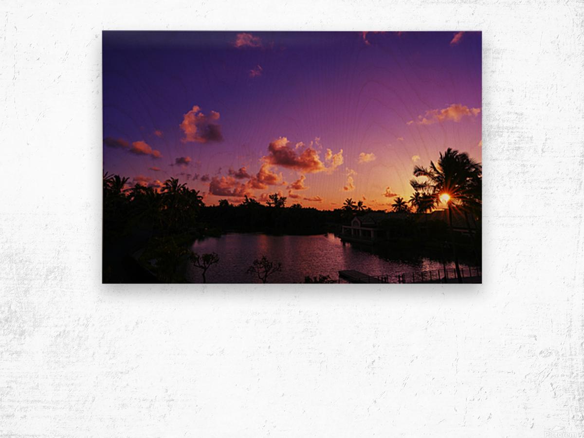 Sunrise over the Lagoon in Kauai Wood print