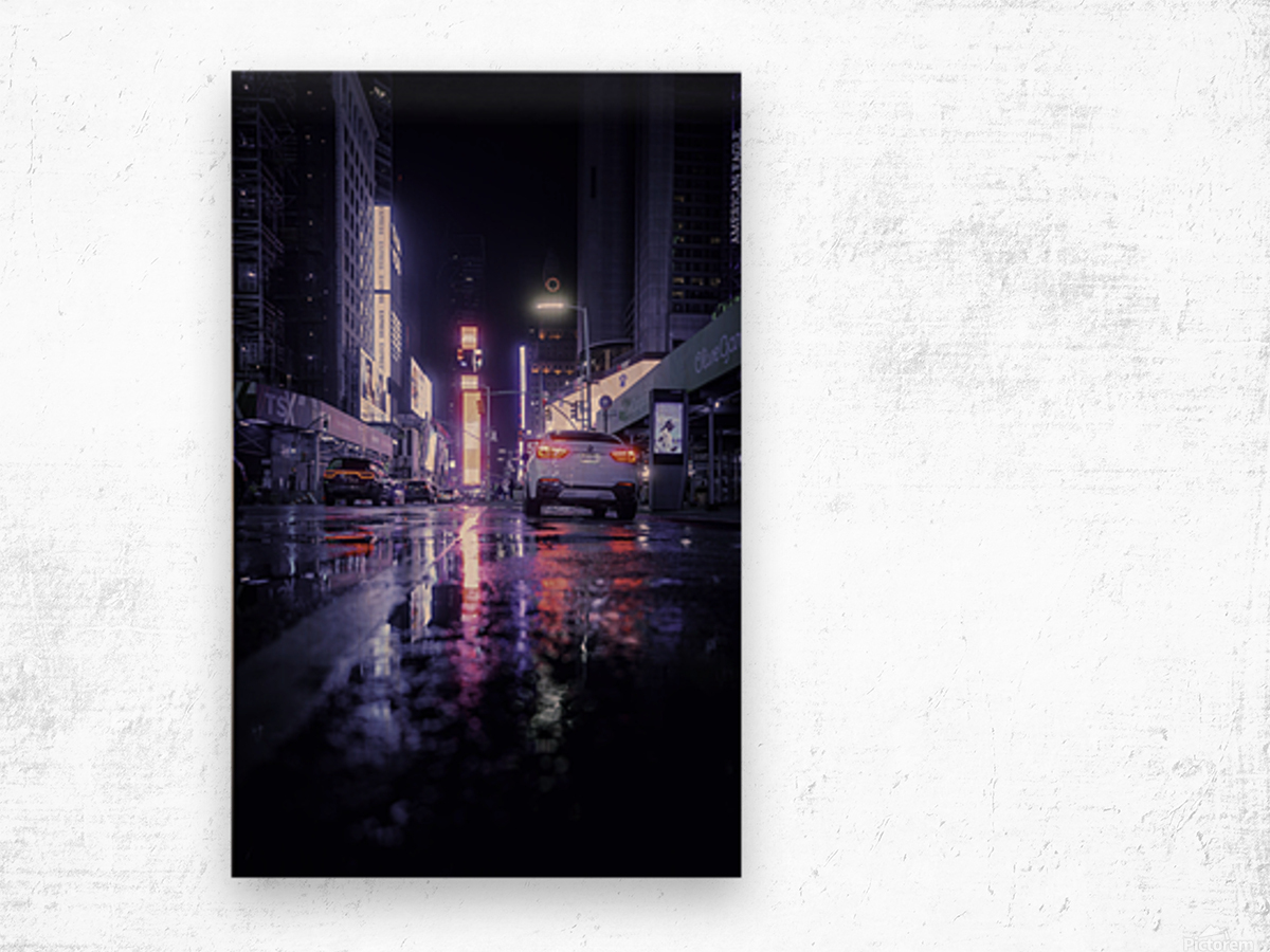 Welcome to Night City Wood print