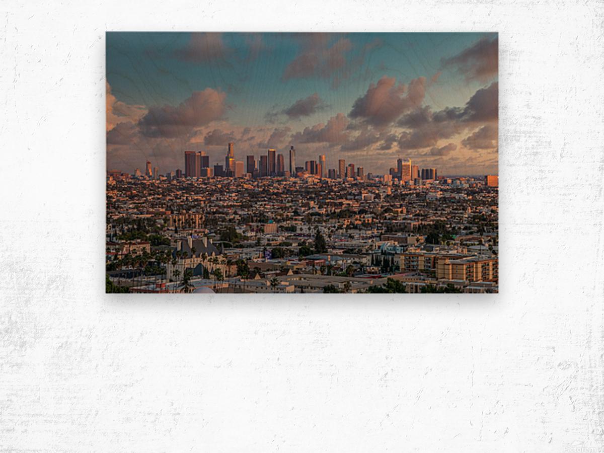 LA Twilight Wood print