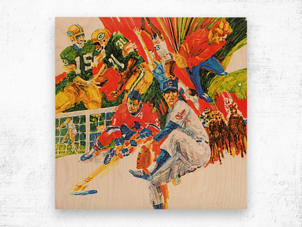 1971 Retro Sports Art Wood print
