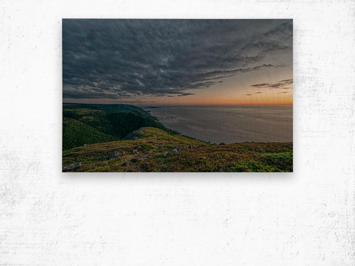 Blueberry Mountain Vista Wood print