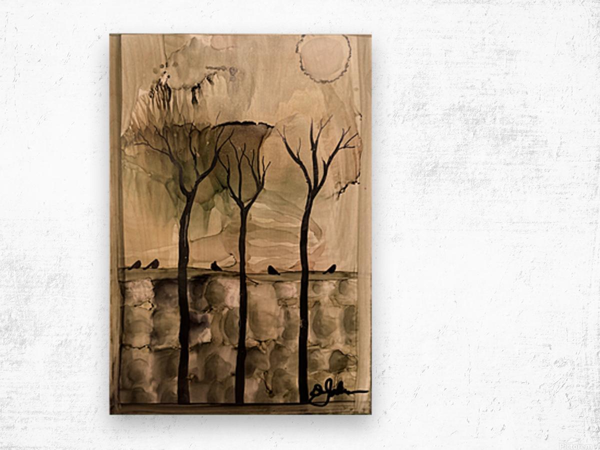 Birds On The Wall Impression sur bois