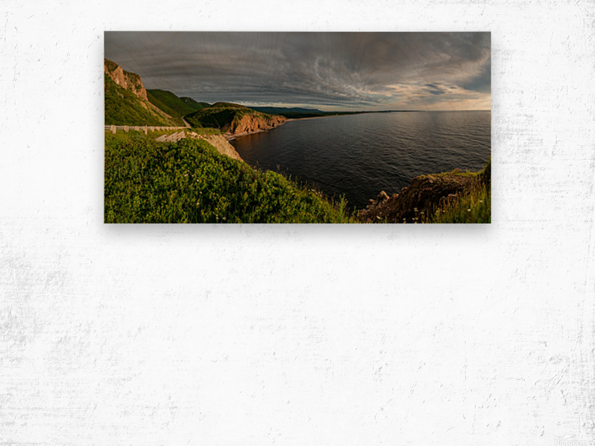 Cabot Trail View towards Cheticamp Wood print