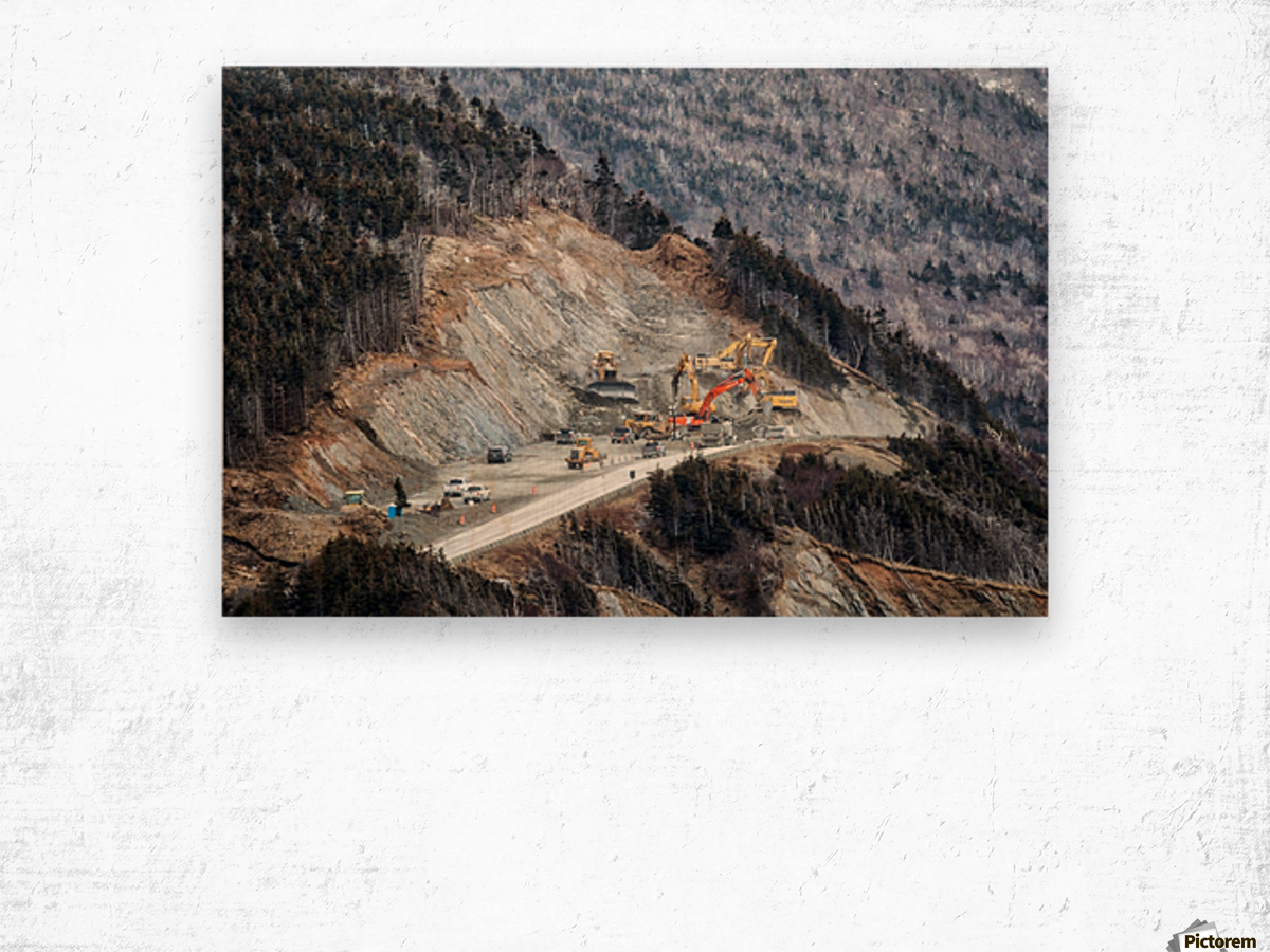 Mountain Moving Wood print
