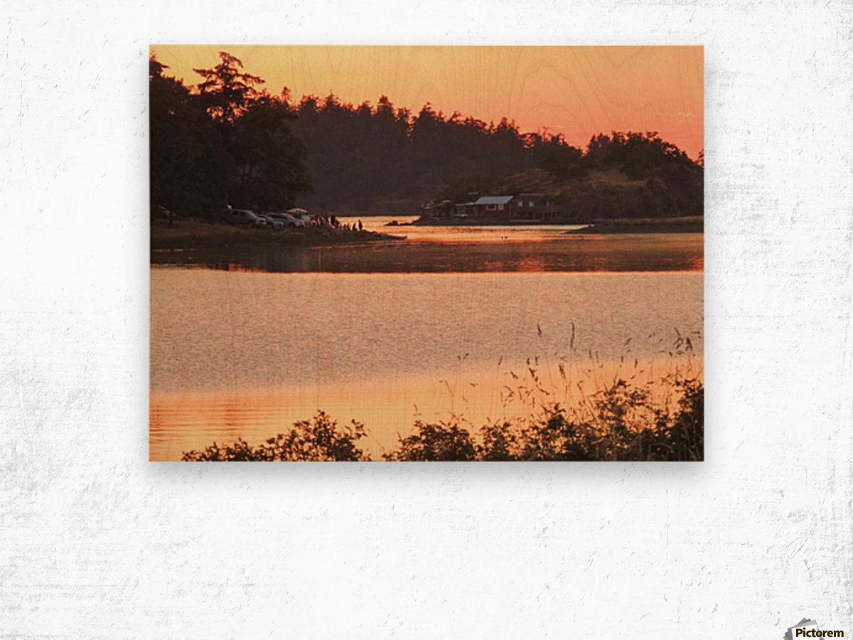 End of a Summer's Day Wood print