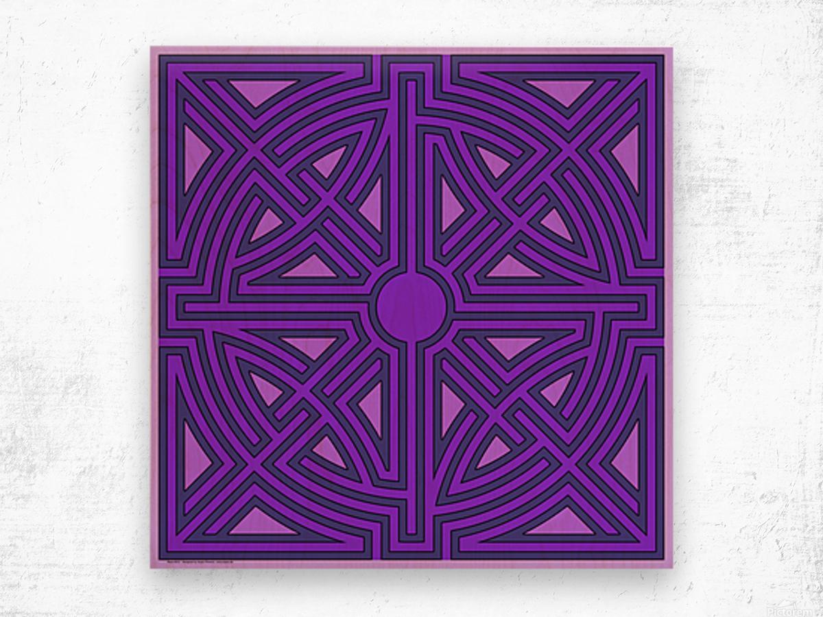 Maze 6013 Wood print