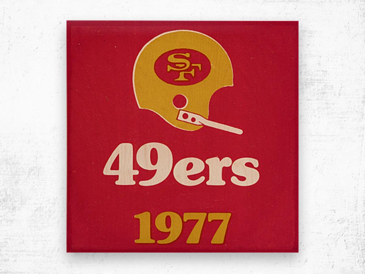 1977 San Francisco 49ers Helmet Art Wood print