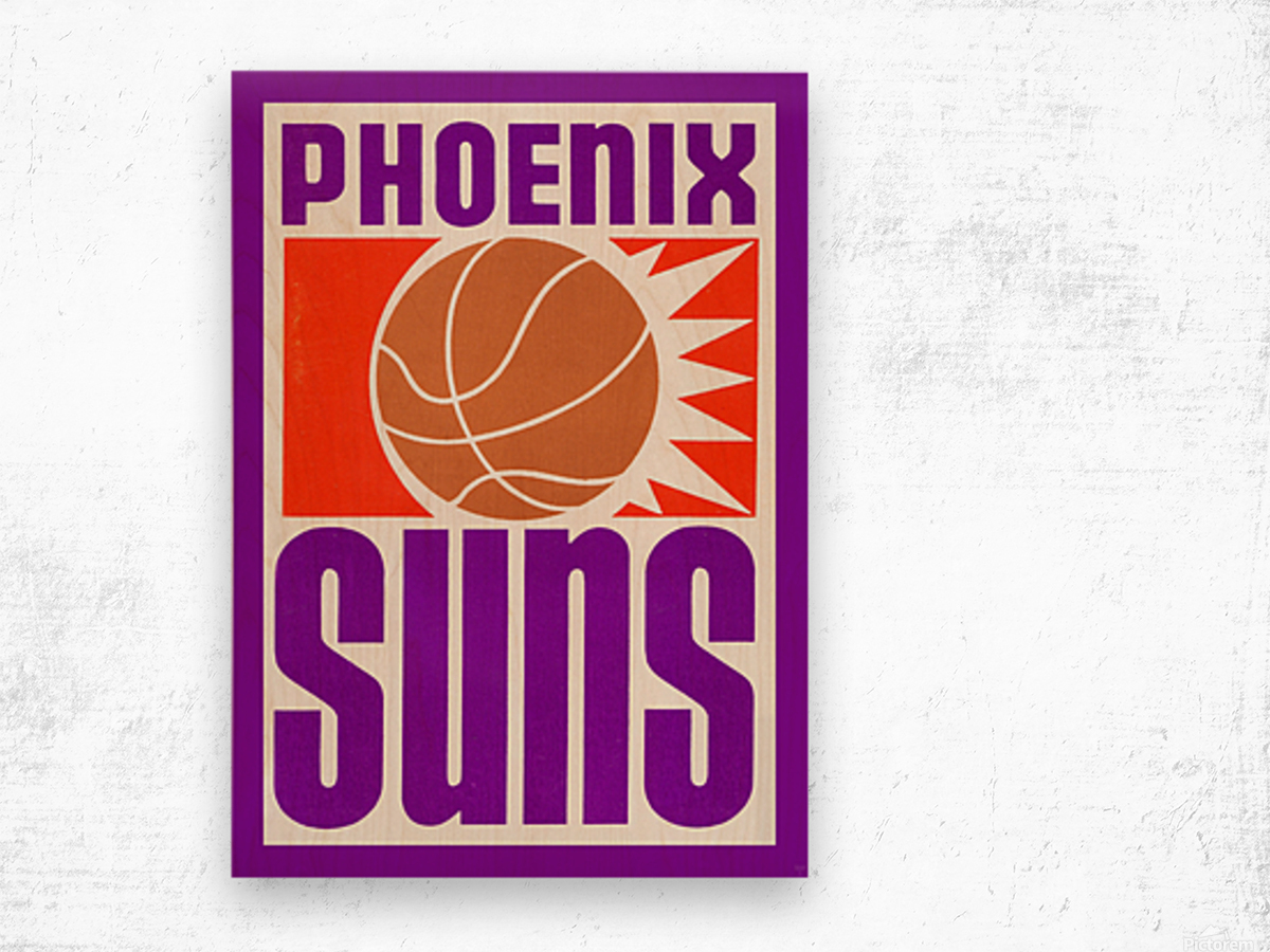 1970 Phoenix Suns Basketball Art Wood print