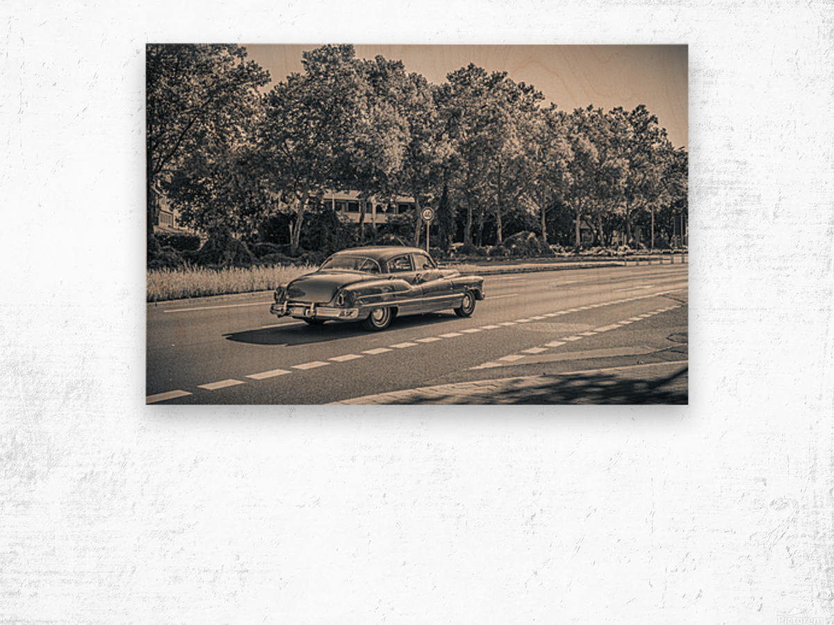 American oldtimer car from the 1950s Wood print