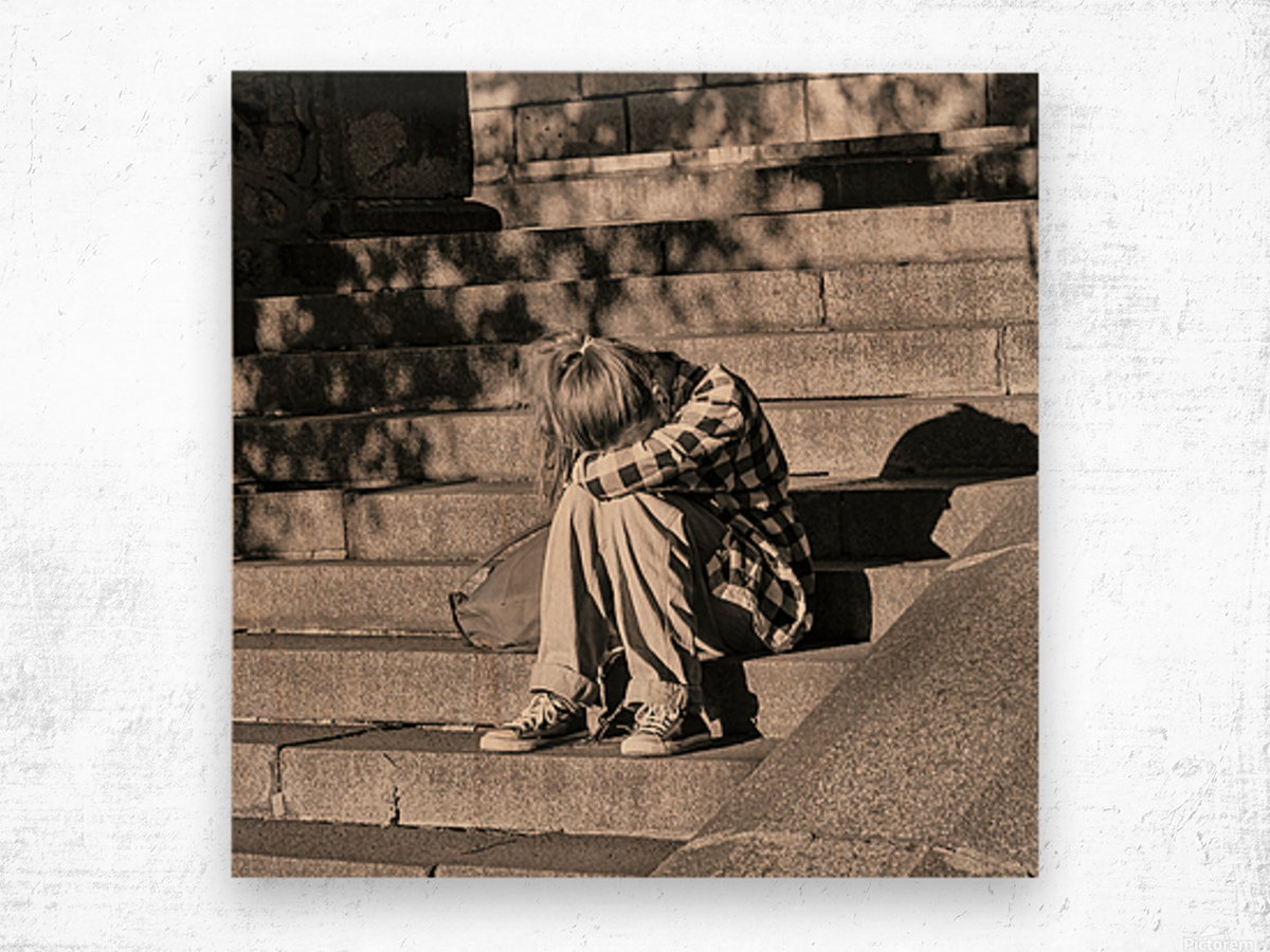 Urban Loneliness - Crying Wood print