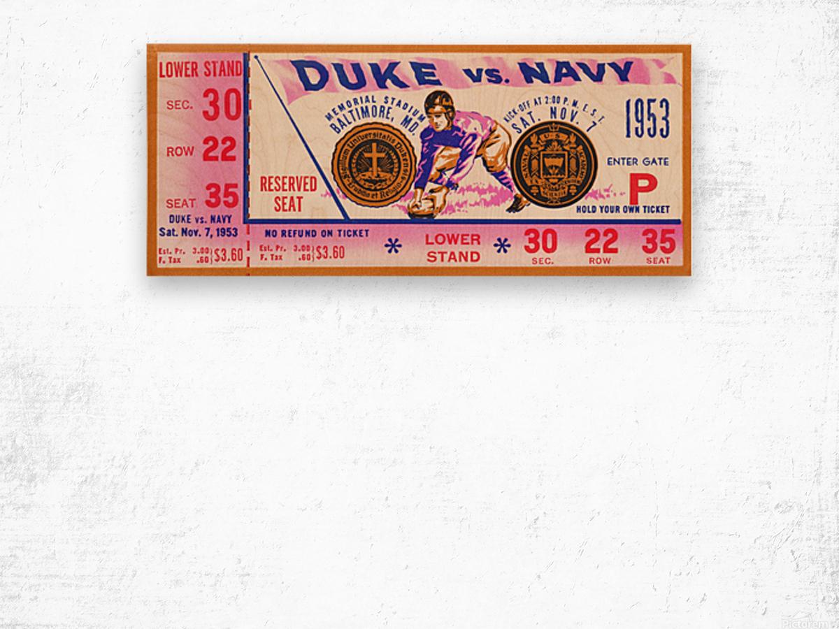 1953 Duke vs. Navy  Wood print