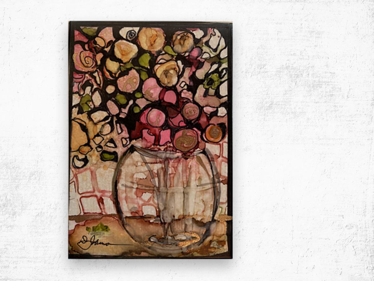 Floral Fun Impression sur bois