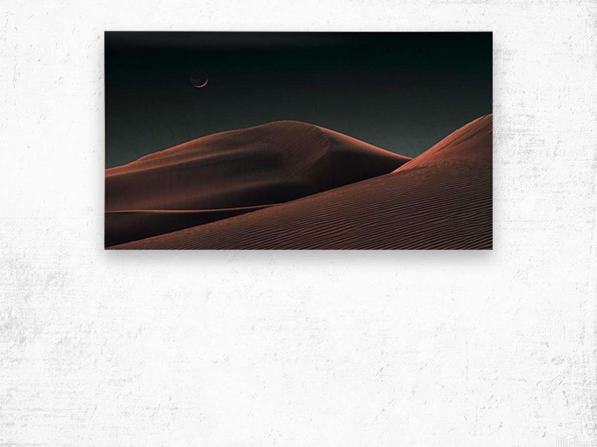 Lunar Sands Wood print