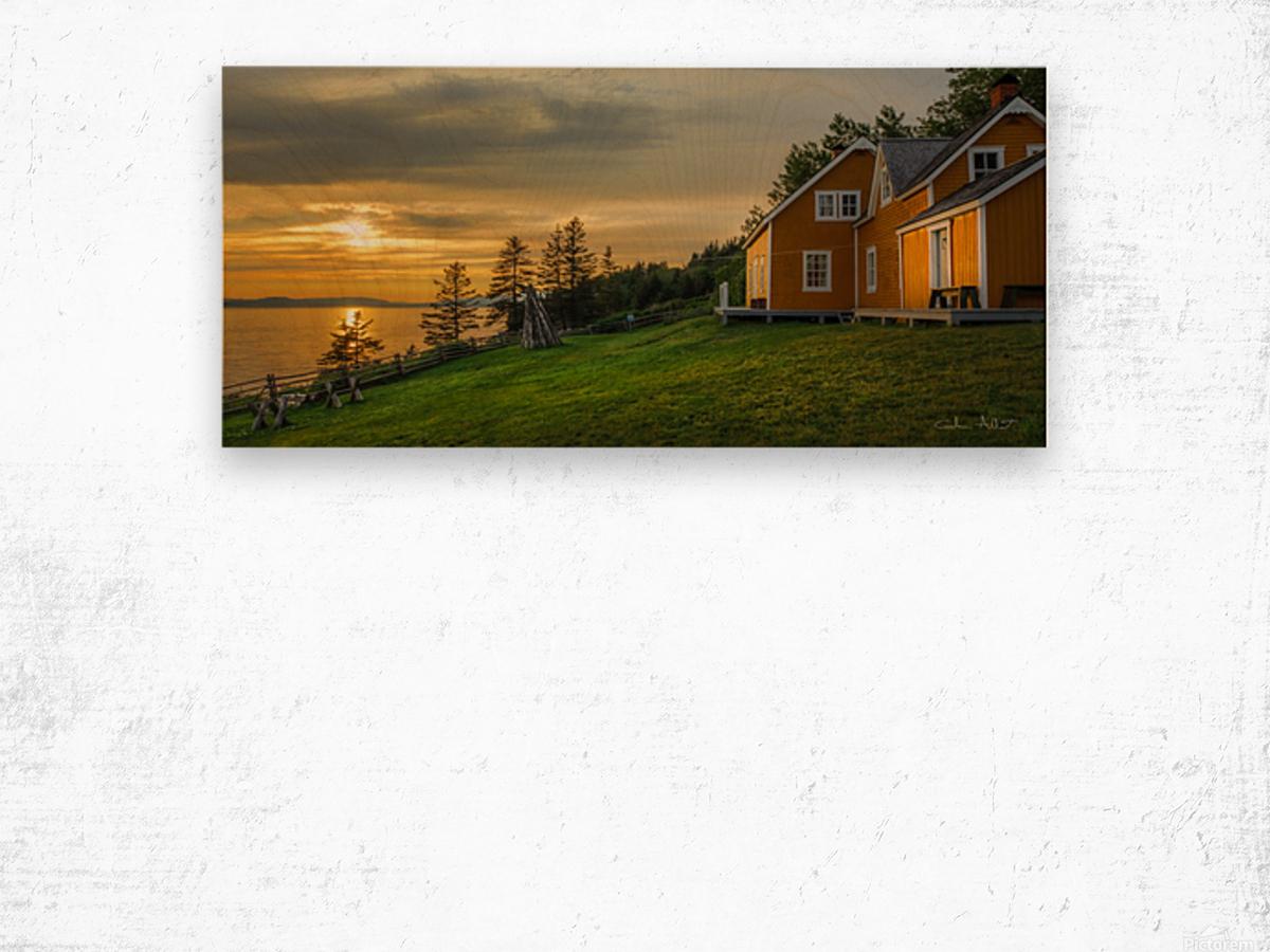 Maison Xavier-Blanchette Embleme du parc Forillon Wood print