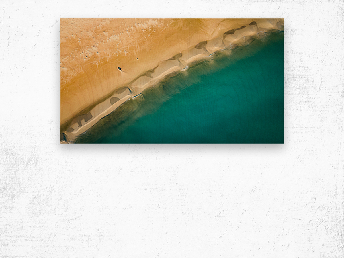 dronebeach1 Wood print