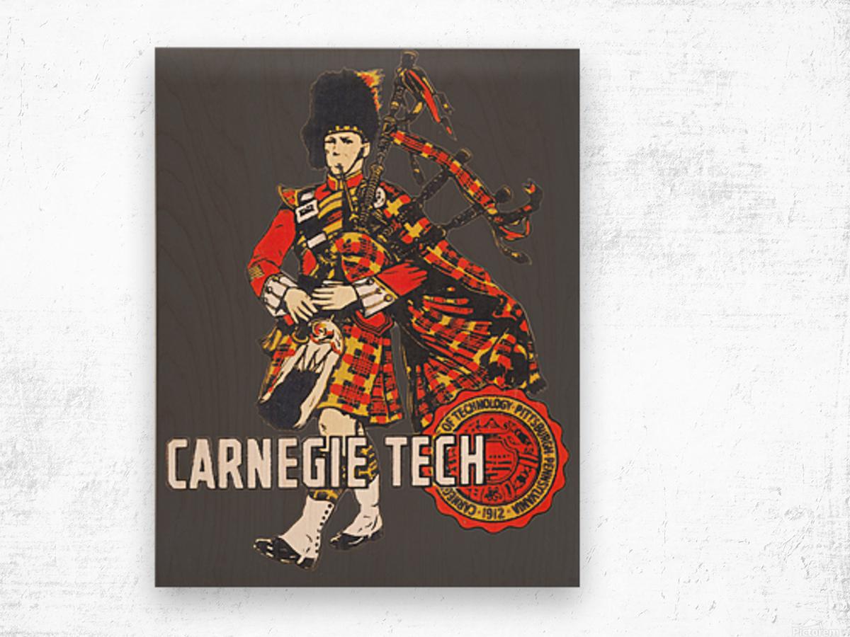 1950s Carnegie Tech Tartans Vintage Art   Row 1 Wood print