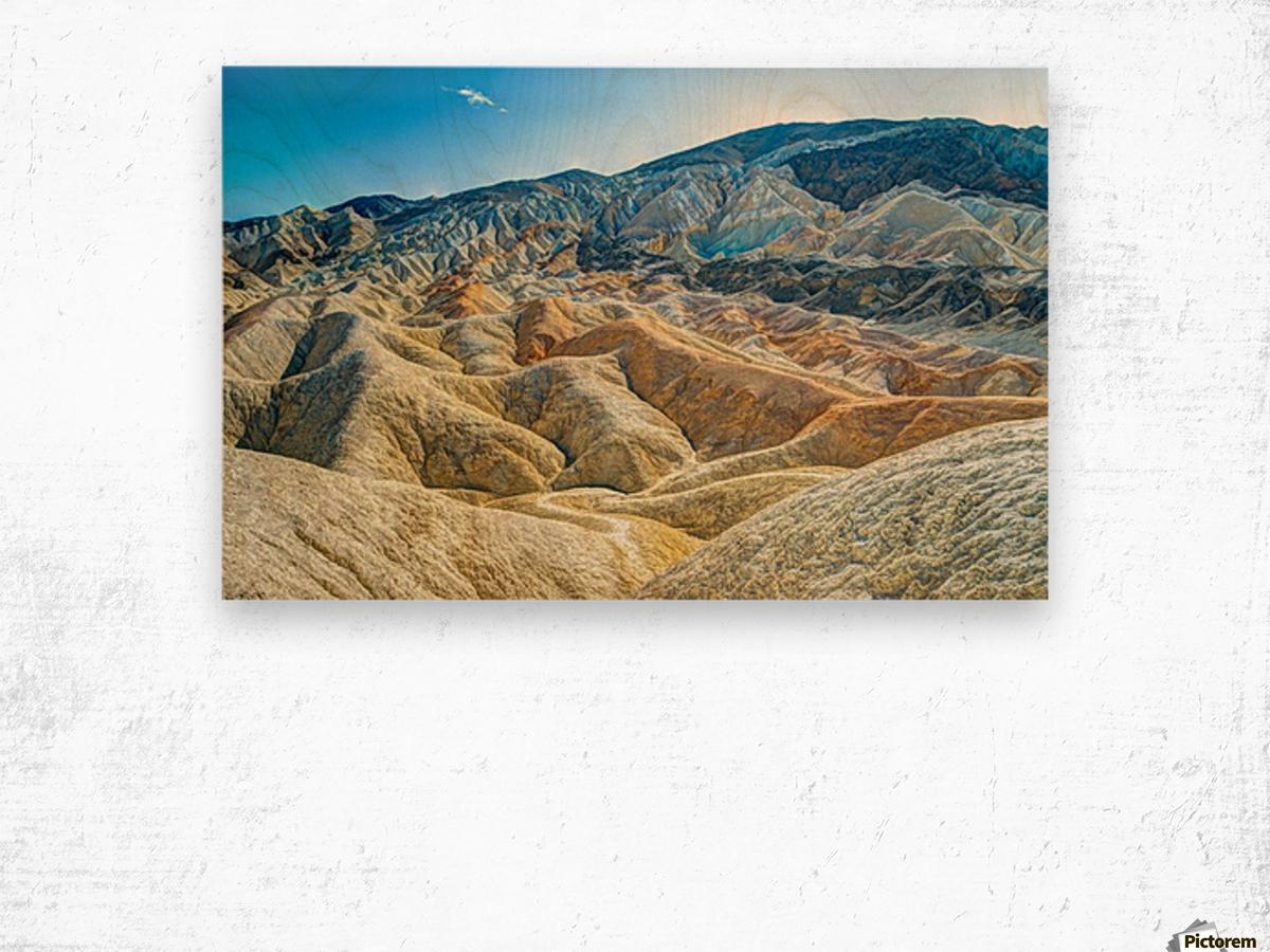 Death Valley Waves Impression sur bois